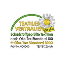 Siegel von Textiles Vertrauen